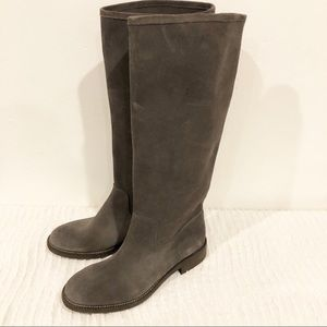 Pedro Garcia Suede Riding Knee Boots Flats 39.5